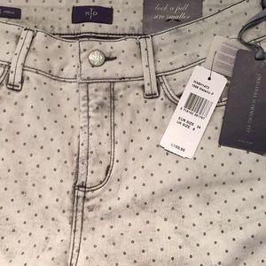 NWT NYDJ Metallic Dot Jeans Size 4 Ankle Skinny